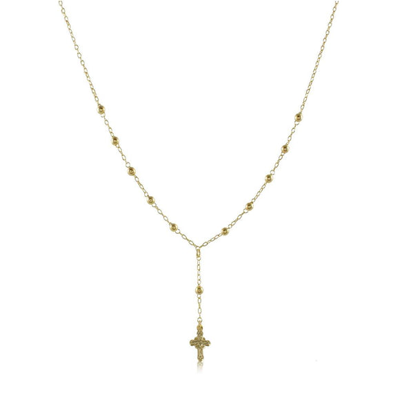 92035 18K Gold Layered -Rosary 45cm/18in