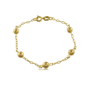 93099 18K Gold Layered -Bracelet 18cm/7in