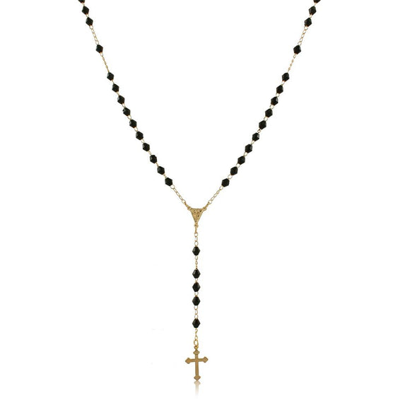 96016 18K Gold Layered Rosary 45cm/18in