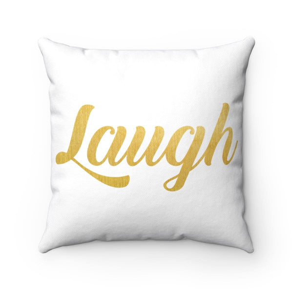 Laugh Square Pillow - Alively