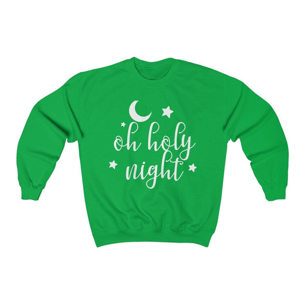 Oh Holy Night Unisex Crewneck Sweatshirt - Alively