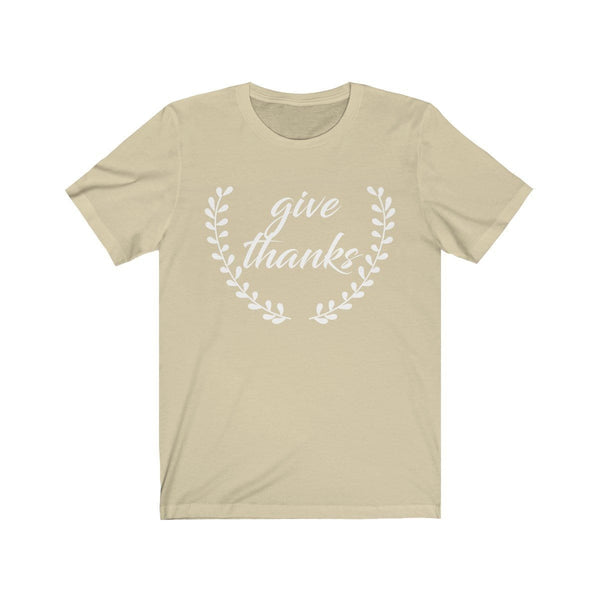 Give Thanks Unisex Short Sleeve Tee - Alively
