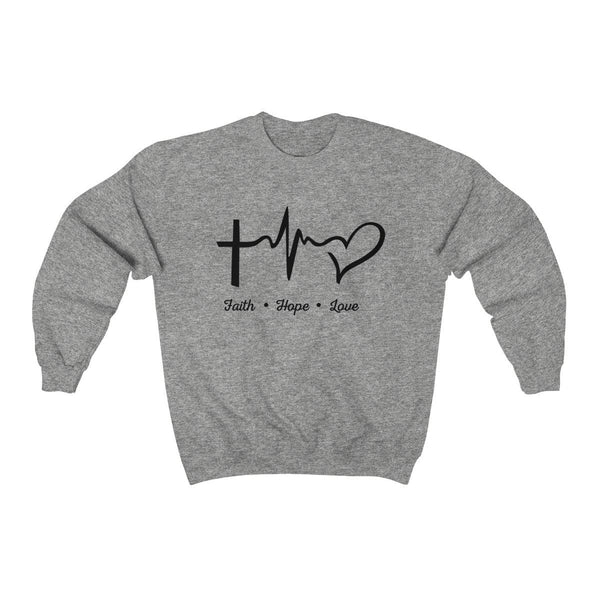 Faith, Hope, And Love Unisex Crewneck Sweatshirt - Alively