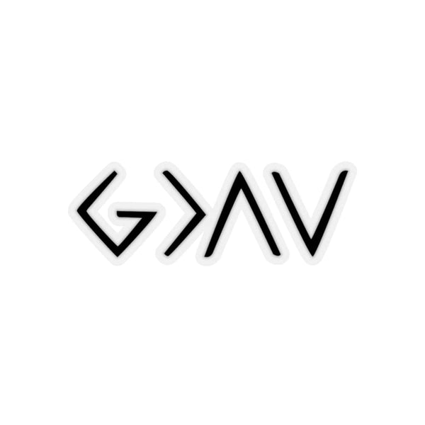 God Is Greater Than The Ups And Downs Kiss-Cut Sticker - Alively