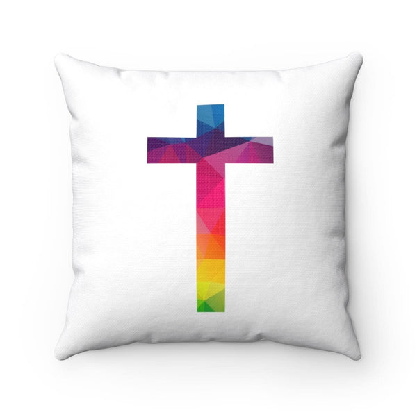 Beautiful Cross Square Pillow - Alively