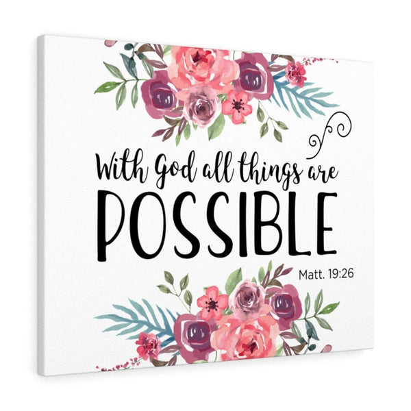 With God All Things Are Possible Canvas - Alively