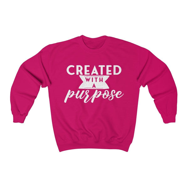 Created With a Purpose Unisex Crewneck Sweatshirt - Alively