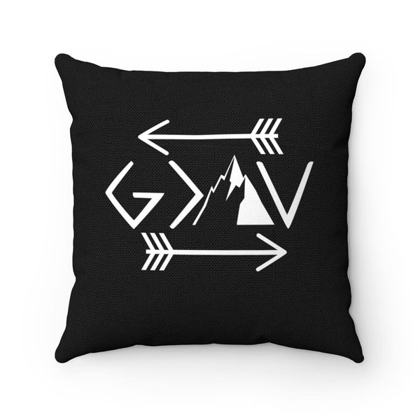 God Is Greater Than The Highs And Lows Spun Polyester Square Pillow - Alively