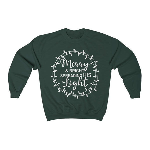 Merry & Bright Unisex Crewneck Sweatshirt - Alively