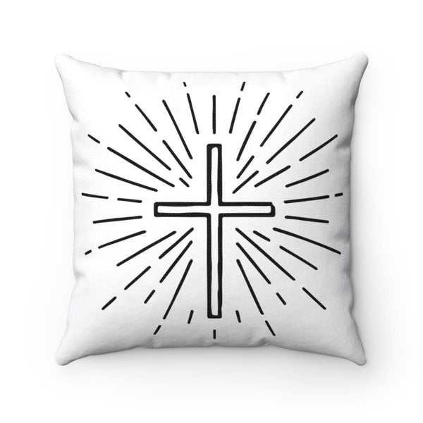 Beautiful Cross Design Square Pillow - Alively