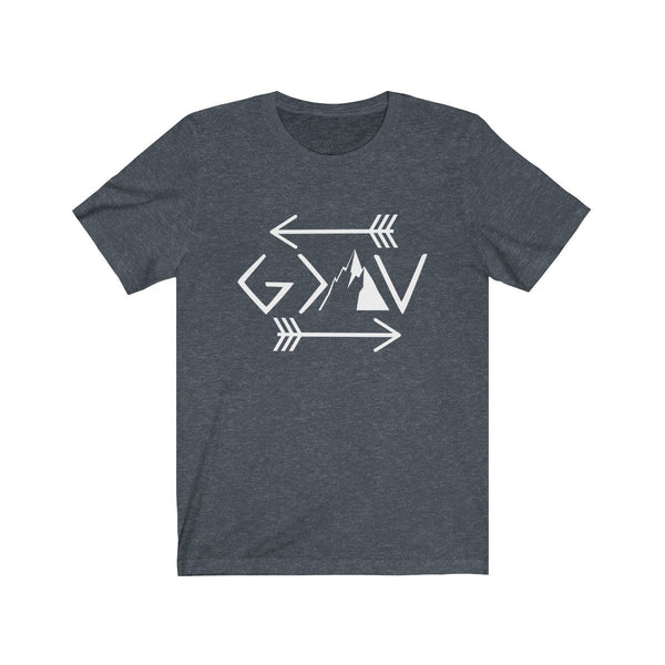 God Is Greater Than The Highs And Lows Unisex Short Sleeve Tee - Alively