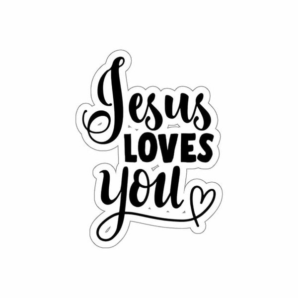Jesus Loves You Kiss-Cut Sticker - Alively