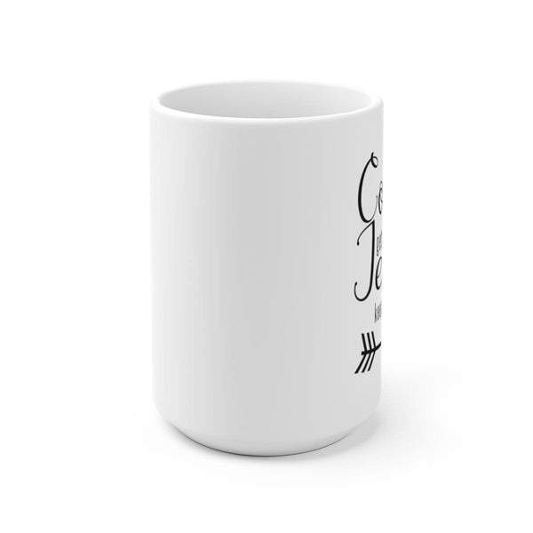 Coffee Gets Me Started White Ceramic Mug - Alively