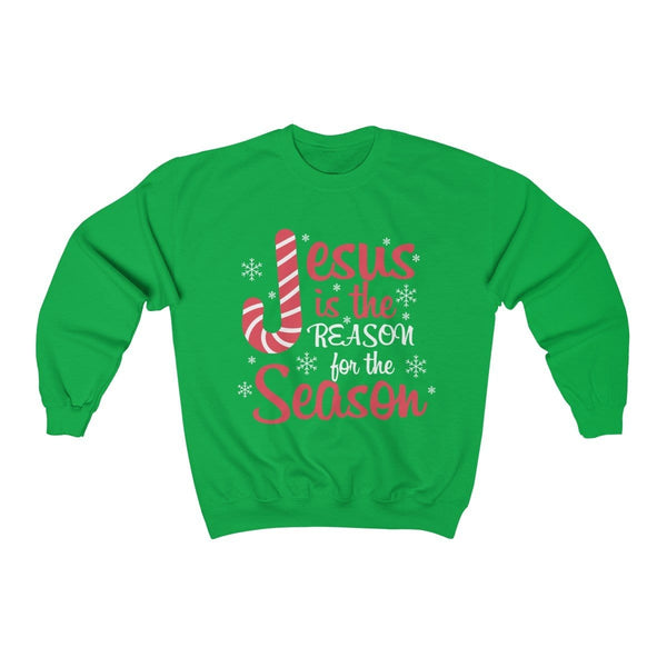 Jesus Is The Reason For The Season Unisex Crewneck Sweatshirt - Alively