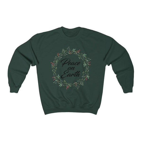 Peace On Earth Unisex Crewneck Sweatshirt - Alively