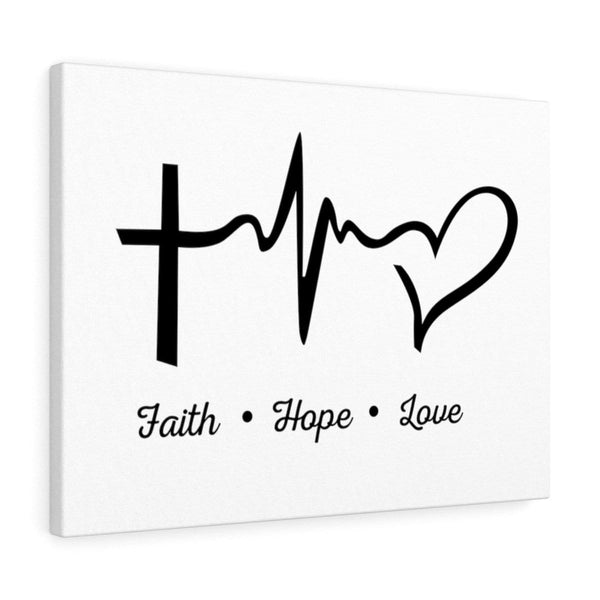 Faith, Hope, And Love Canvas - Alively
