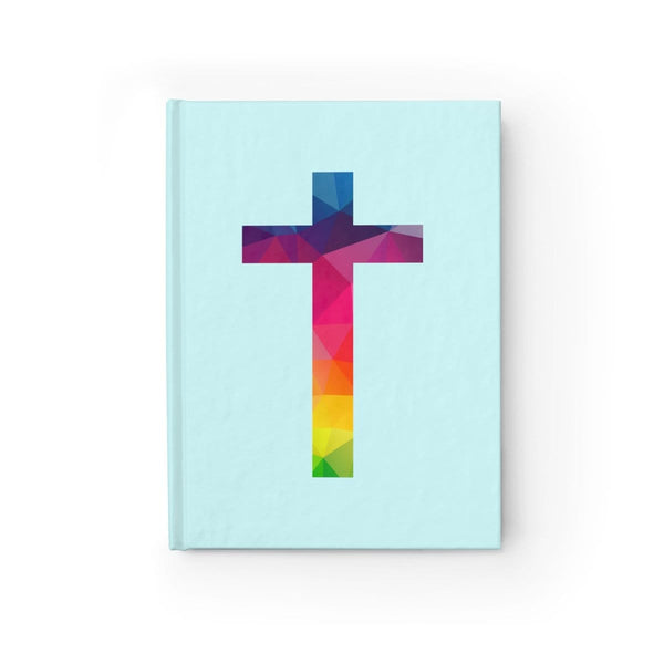 Light Blue Cross Journal - Ruled Line - Alively