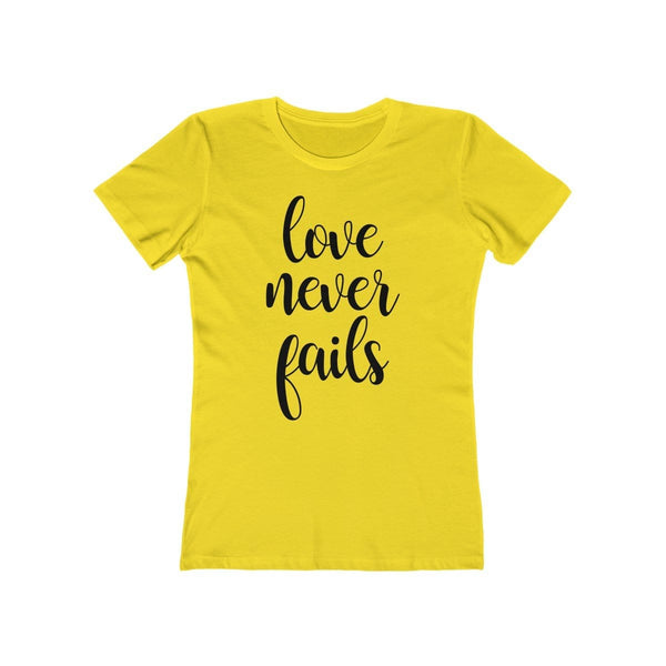 Love Never Fails Women's Tee - Alively