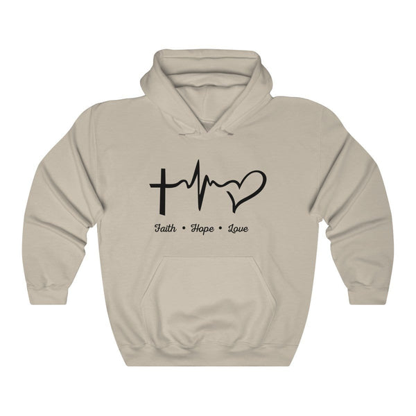 Faith, Hope, & Love Unisex Hoodie - Alively
