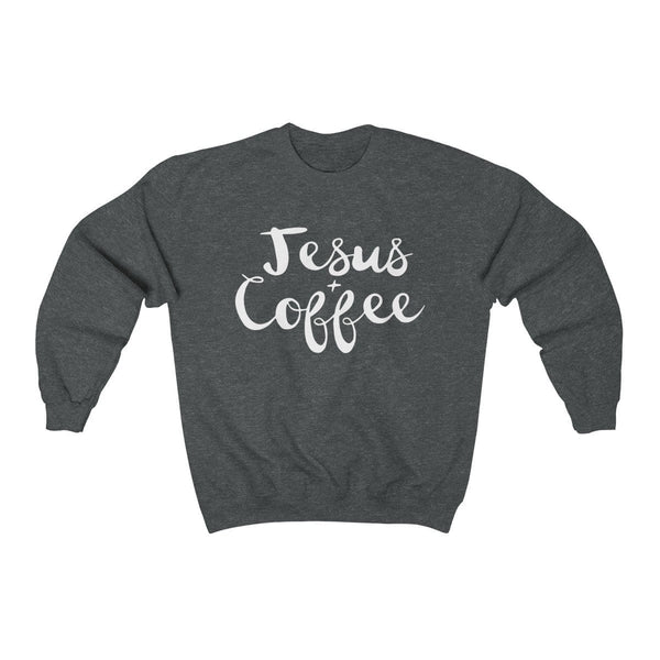 Jesus and Coffee Unisex Crewneck Sweatshirt - Alively