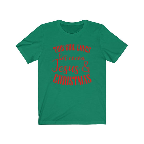 Hot Cocoa, Jesus, & Christmas Unisex Short Sleeve Tee - Alively
