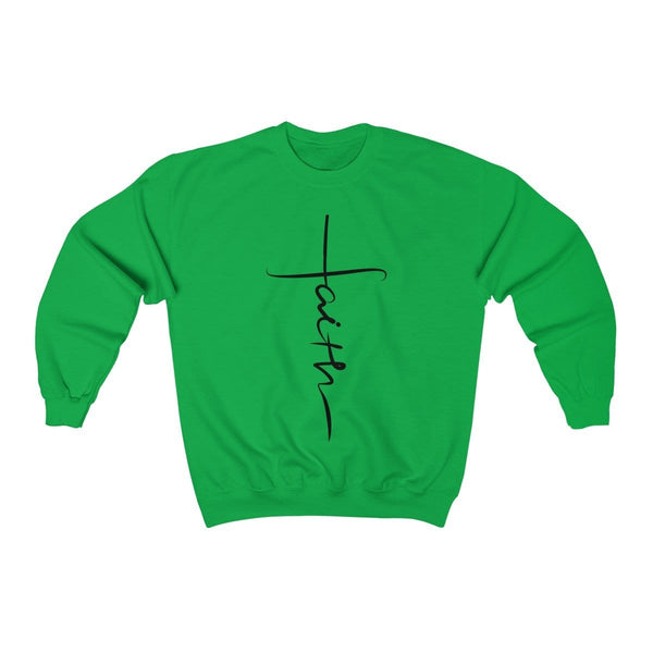 Faith Cross Unisex Crewneck Sweatshirt - Alively