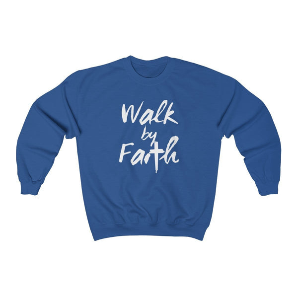 Walk By Faith Unisex Crewneck Sweatshirt - Alively