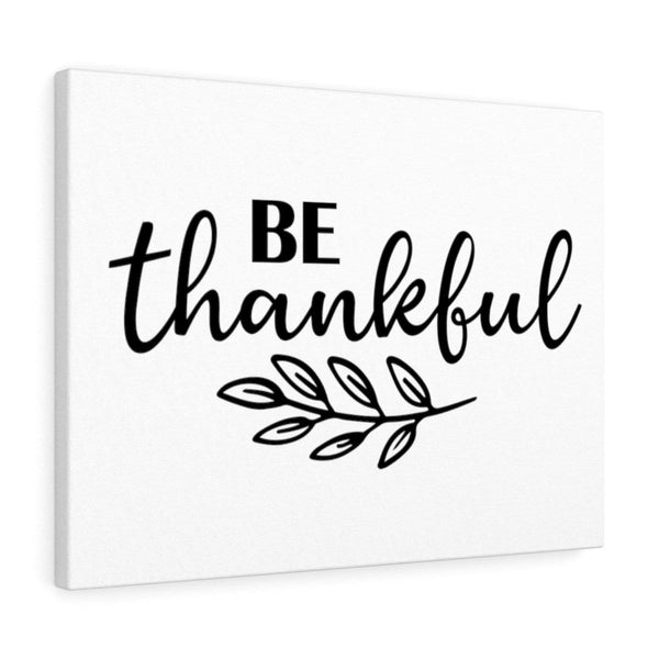 Be Thankful Canvas - Alively