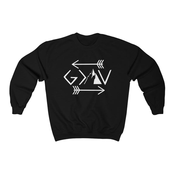 God Is Greater Than The Highs And Lows Unisex Crewneck Sweatshirt - Alively