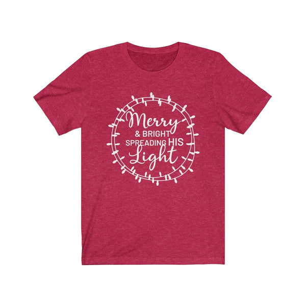 Merry & Bright Unisex Short Sleeve Tee - Alively