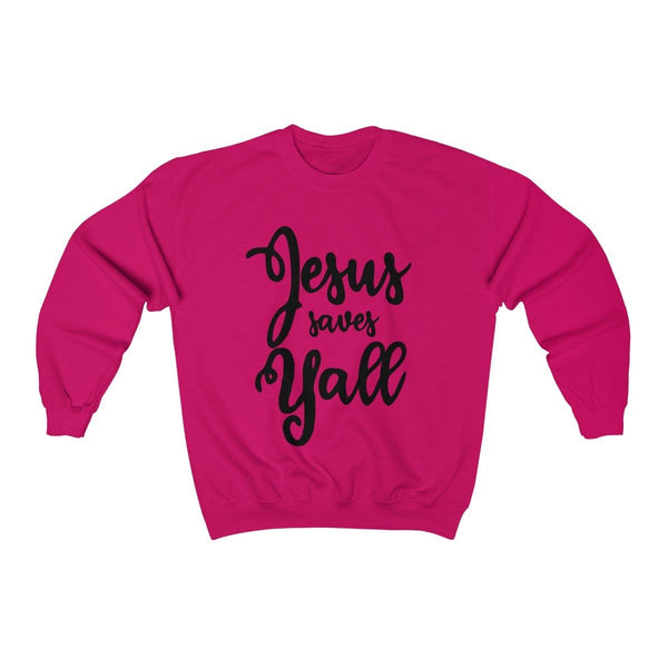Jesus Saves Y'all Unisex Crewneck Sweatshirt - Alively