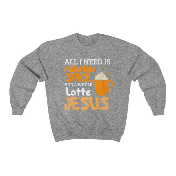 Pumpkin Spice and a lot of Jesus Unisex Crewneck Sweatshirt - Alively
