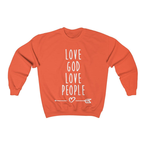 Love God Love People Unisex Crewneck Sweatshirt - Alively