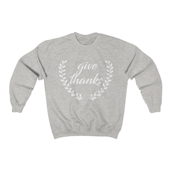 Give Thanks Unisex Crewneck Sweatshirt - Alively