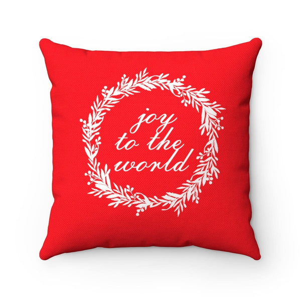 Joy To The World Square Pillow - Alively