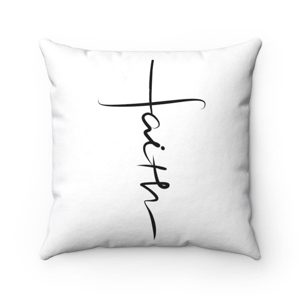 Faith Cross Square Pillow - Alively