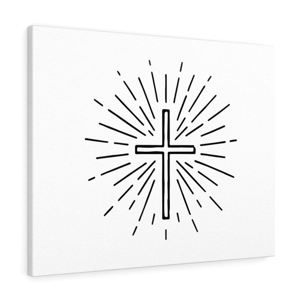 Beautiful Cross Design Canvas - Alively