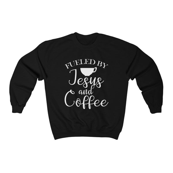 Fueled By Jesus and Coffee Unisex Crewneck Sweatshirt - Alively