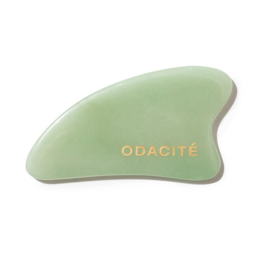 Crystal Contour Gua Sha Green Aventurine Beauty Tool - The Natural Beauty Club