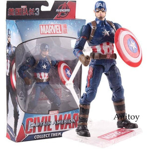 Marvel Captain America Real Clothes PVC Action Figure Collectible Model Toy