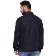 Navy Blue Tweed Winter Jacket for Men