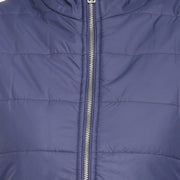 Navy Blue Nylon Padded Winter Jacket for Women