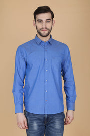 Men Blue Shirt