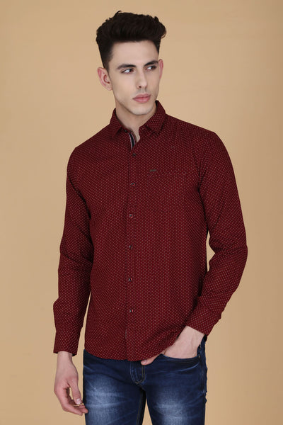 Men Maroon Shirt