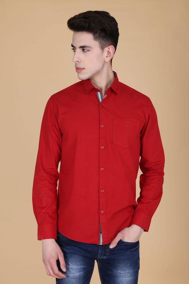 Men Red Shirt