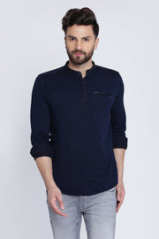 Men Navy Shirt