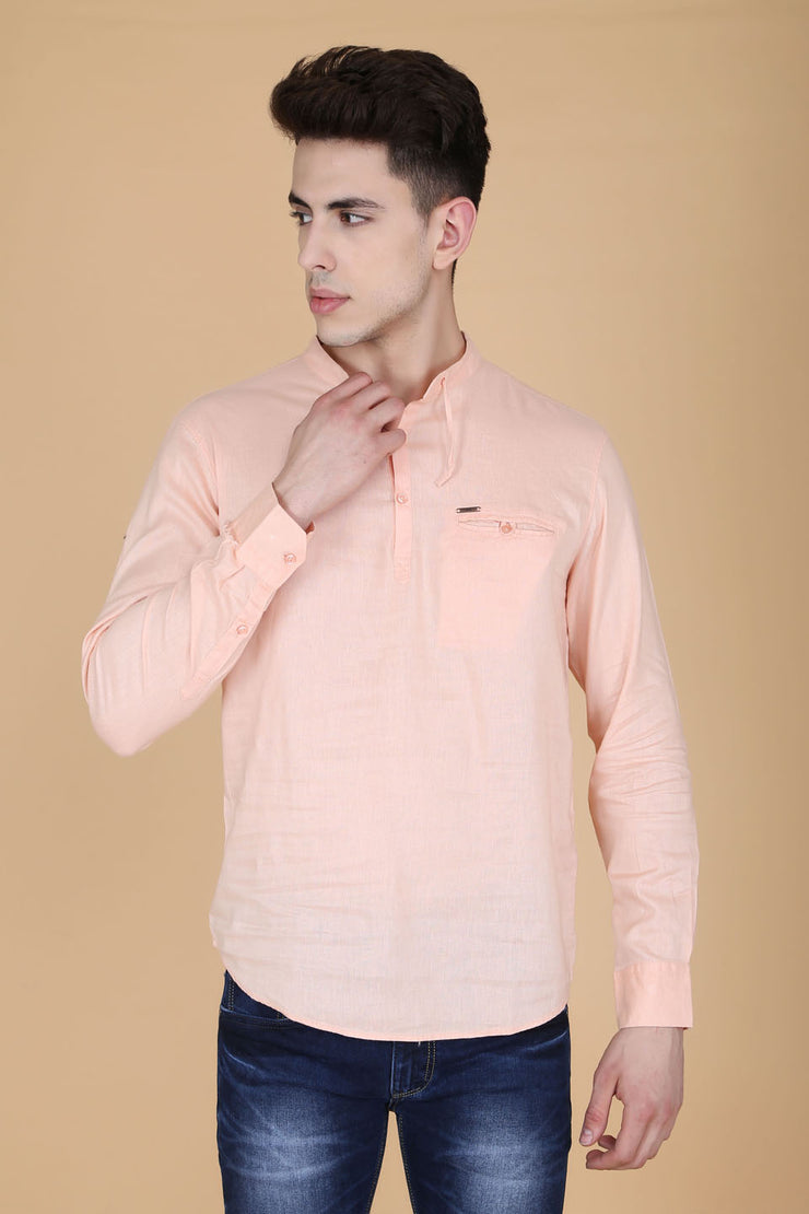 Men Orange Shirt