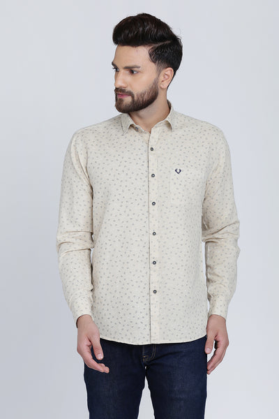 Men Beige Shirt