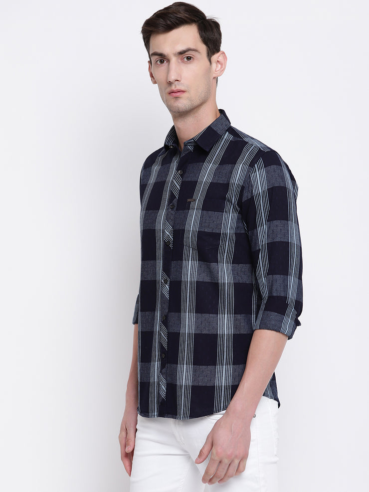 Mens Blue & Grey Shirt