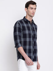 Grey Checkered Cotton Shirt